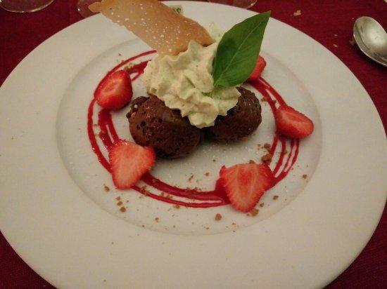 Bricquebec, Francia: Dessert