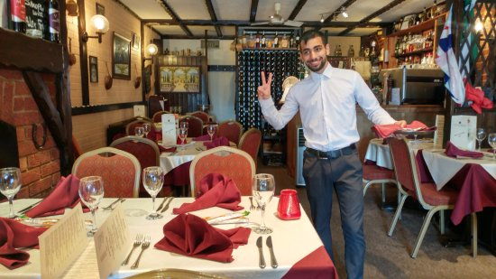 La Stalla Restaurant: Our waiter. Happy to serve.