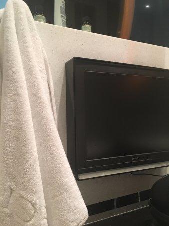 Hotel Eclat Taipei: TV in the bathroom