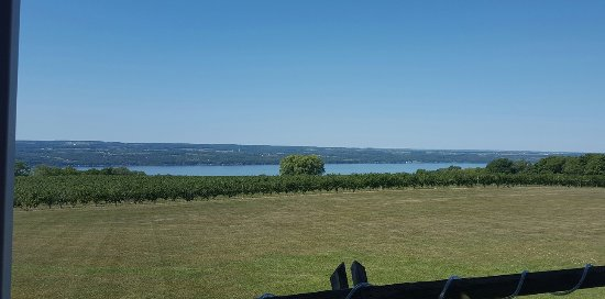 Ginny Lee Cafe: View from the Veranda overlooking Seneca Lake