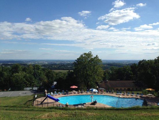 Stevens, PA: Up on the hill pool view