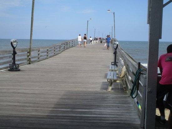 Virginia beach fishing pier view down pier picture of for Fishing piers in va