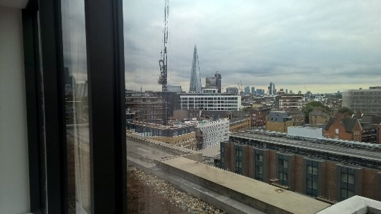 City view of the Shard from higher floor