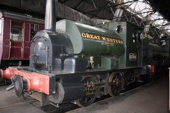 Didcot, UK: Trojan 1897 Tank Engine in the motive power shed