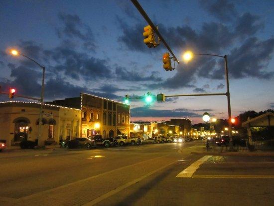 Historic Main Street in Acworth, Georgia