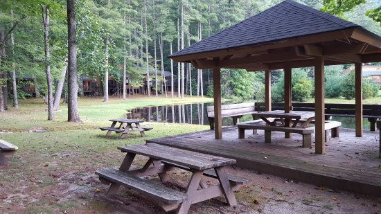 Cashiers, NC: Gazebo area from Meadow Lake
