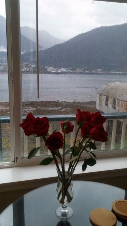 Beachside Villa Luxury Inn: Fresh roses in our room
