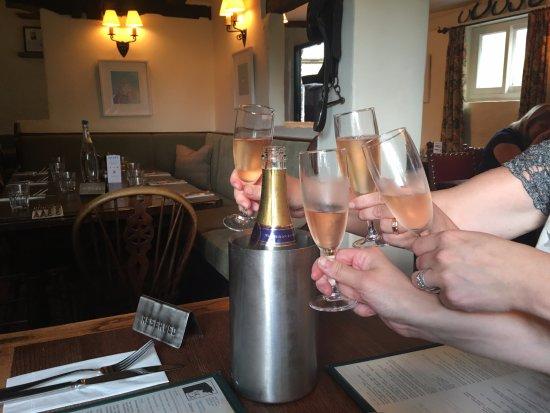 West Hoathly, UK: family toast