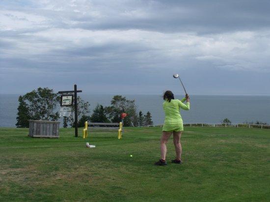 Parrsboro Golf Course: Teeing off!