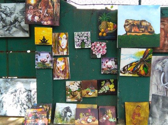 Paintings at Green Path