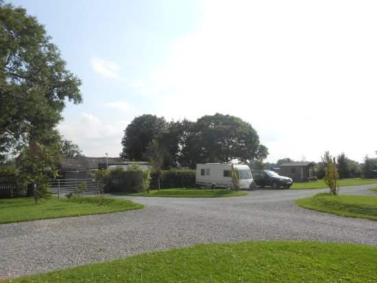 Nether Poppleton, UK: View from our pitch on Cherry Tree Farm, Nether Popplewell