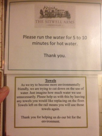 Renishaw, UK: Confusing water policy!