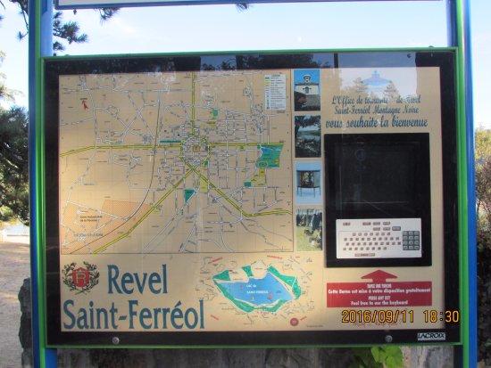 Revel, Frankrig: la region sur une carte