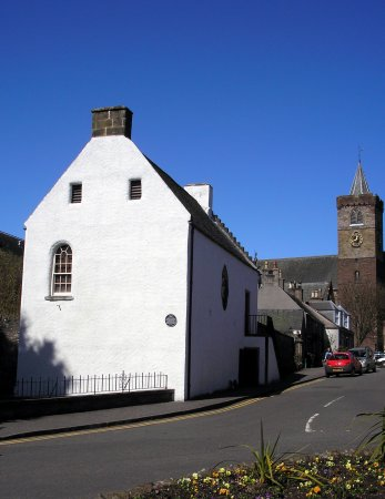 Exterior with Dunblane Cathedral in the background