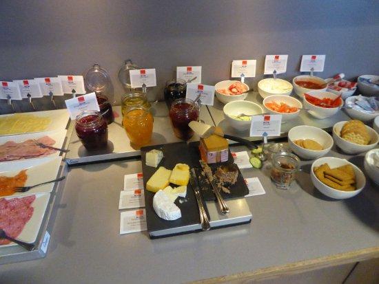 Molde, Norwegen: Frühstücksbüffet
