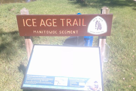 Manitowoc, Wisconsin: Ice Age sign