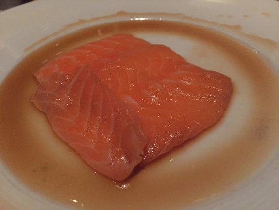 Sushi Roku: salmon sashimi...one million times better than this photo!