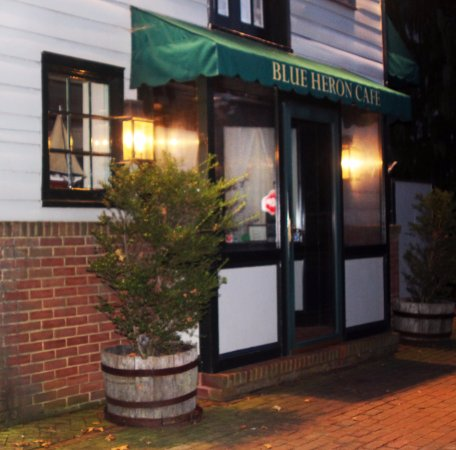 Outside the wonderful Blue Heron Restaurant in Chestertown, MD