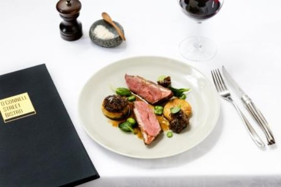 O'Connell St Bistro: Southland Lamb rump, truffled Sweetbreads, Pommes Anna & Broad Beans