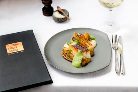 O'Connell St Bistro: Market Fish, Cloudy Bay Clams, roasted Fennel & Garlic shoots