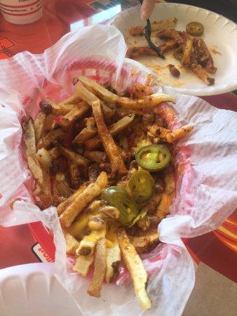 Warrenton, VA: Chili cheese fries with jalapeño's