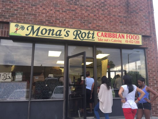 Photo of Caribbean Restaurant Mona's Roti-Caribbean Food at 4810 Sheppard Ave E, Toronto M1S 4N6, Canada