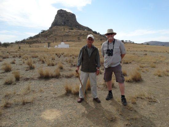 Rorke's Drift, Sudafrica: Paul and myself at Isandlwana