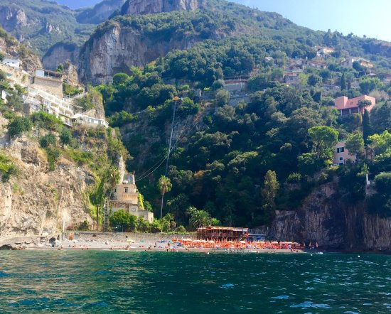 Arienzo Beach from the motor boat shuttle - Picture of Bagni d ...