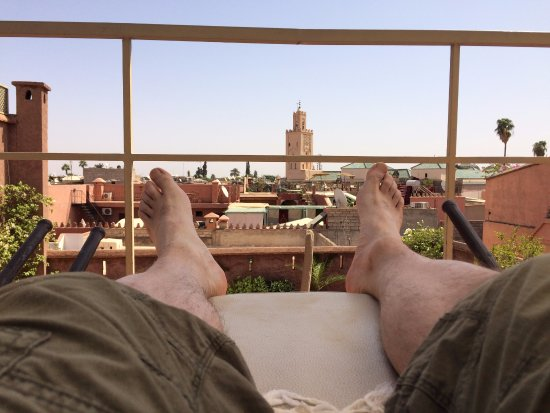 Riad Altair: A great view of the Medina from the rooftop!