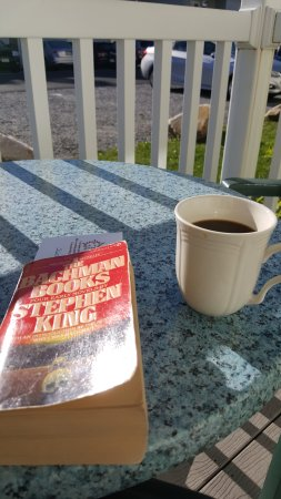 Vacation Village in the Berkshires: Morning coffee and book on the patio