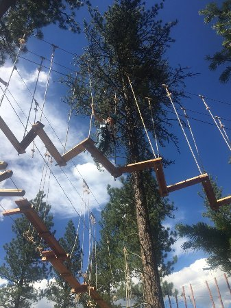 Greenough, MT: skyline aerial adventure course