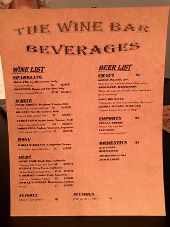 "Decatur, IN: Premier Golf's ""The Wine Bar"" Menu"