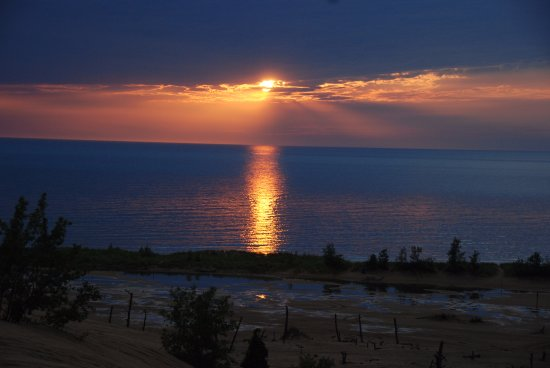 Mears, MI: Sunset in The Dunes