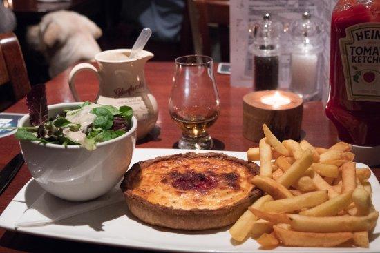 Aberlour, UK: Brie and beetroot tart