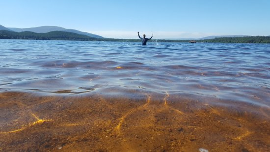 Aviemore, UK: safe for early swimmers. and kids.