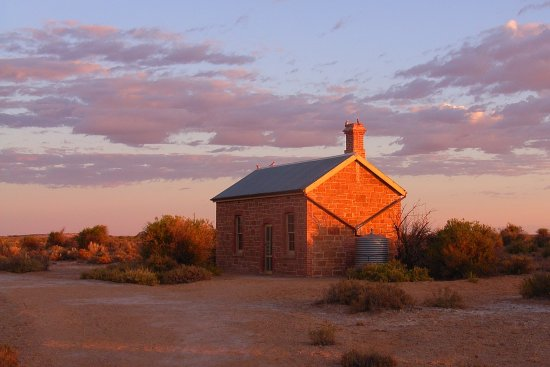 Marree, Australia: The Museum, restored  Engine Drivers Caabin