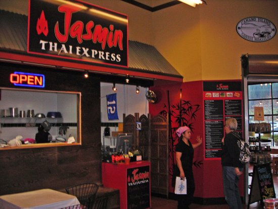 Jasmin Thai Express inside the Camano Island IGA