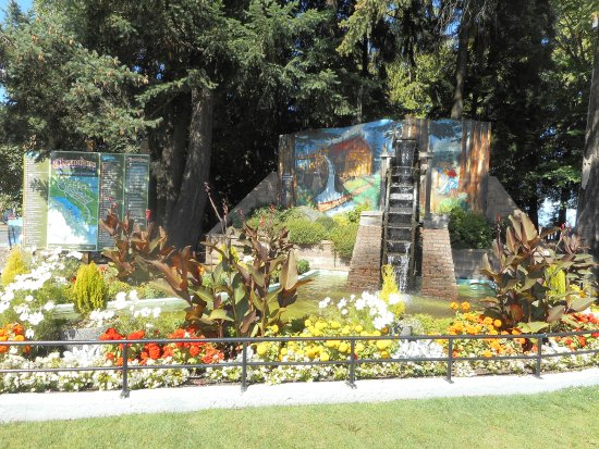 Chemainus Water Wheel Park is in the center of our small town.