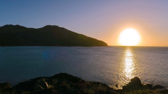 Matacawalevu Island, Fidżi: Sunset from the dining deck