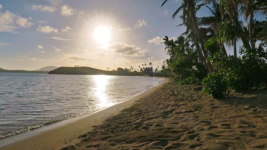 Matacawalevu Island, Fiji: The beachfront