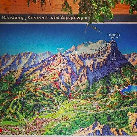 Map of the area - Picture of Alpspitz, Garmisch ... Garmisch Partenkirchen Map on babenhausen map, cortina d'ampezzo map, magdeburg map, berchtesgaden map, landstuhl map, germany map, weimar map, freiburg map, albertville map, rothenburg ob der tauber map, karlsruhe map, europe map, bonn map, garmisch trail map, saxony map, koblenz map, dortmund map, oberammergau map, oslo map, duisburg map,