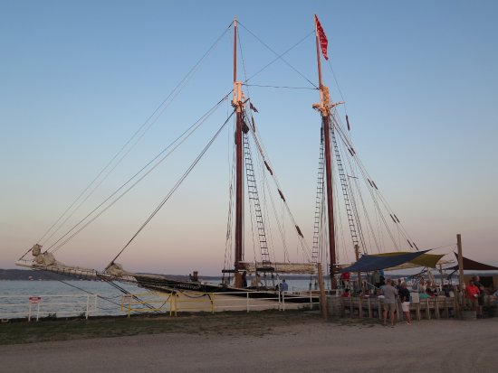 Tall Ship Manitou - Day Tours: The Manitou moored after our trip