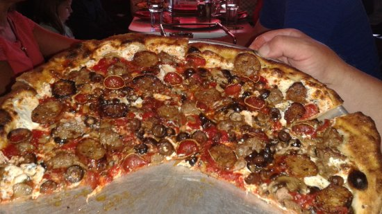 Tony's Pizza Napoletana: pizza! (although we special ordered too many toppings)