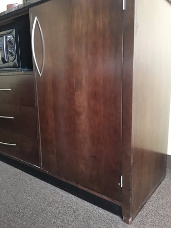 Trevose, PA: Chipped furniture in room