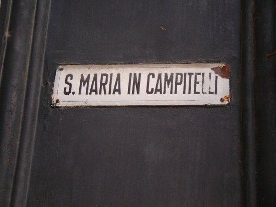 Chiesa Santa Maria in Portico in Campitelli: Placa