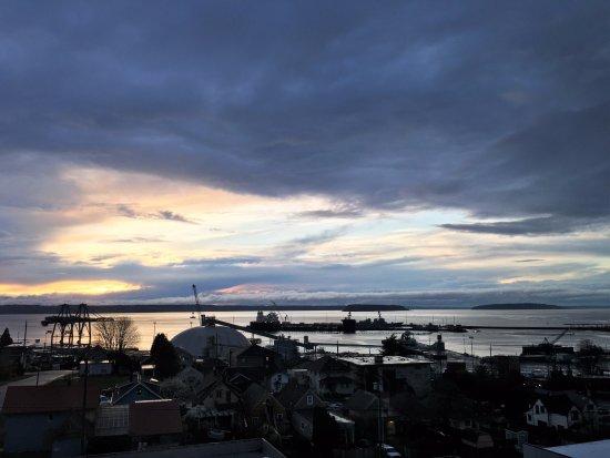 Everett, WA: Sunset view from my window