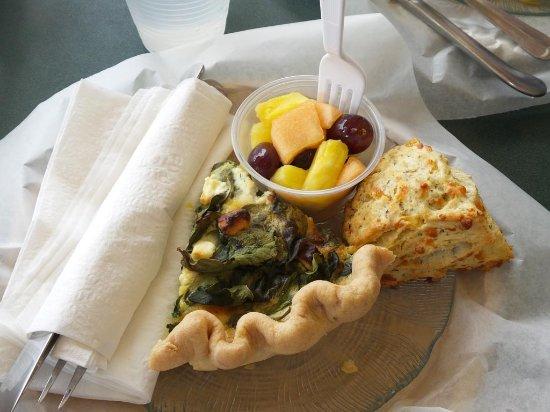 Pewaukee, WI: Spinach Feta Quiche