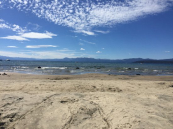 Tahoe Vista, CA: The lakeside private beach