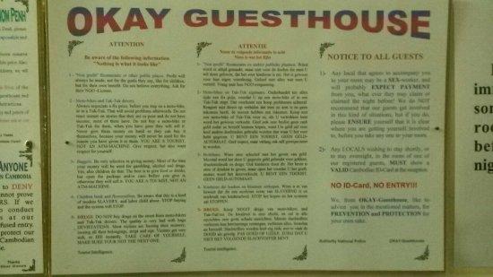 Okay Guesthouse Phnom Penh: 20160725_073927_large.jpg