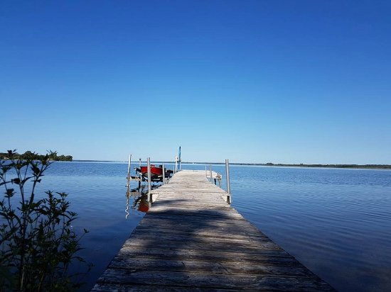 North Port, Canada: View from dock (backyard) - all rooms have this amazing view!